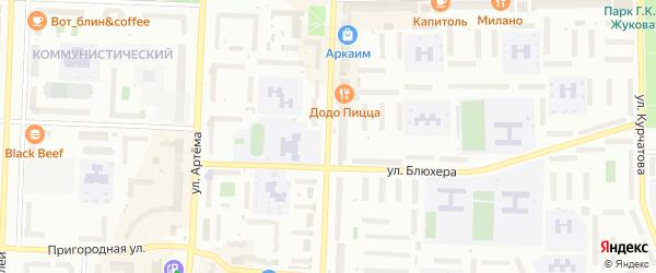 Коммунистическая улица на карте Стерлитамака с номерами домов