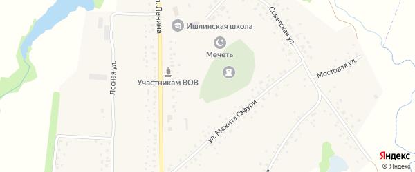 Луговая улица на карте села Ишлы с номерами домов