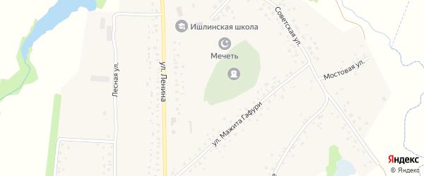 Улица Гафури на карте села Ишлы с номерами домов