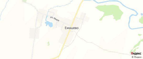 Карта села Емашево в Башкортостане с улицами и номерами домов