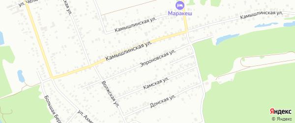 Эпроновская улица на карте Уфы с номерами домов