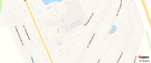 Заводская улица на карте села Толбазы с номерами домов