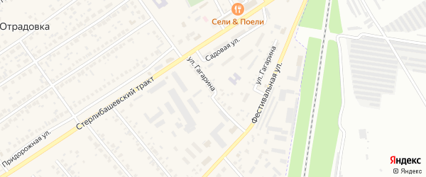 Садовая улица на карте села Загородного с номерами домов