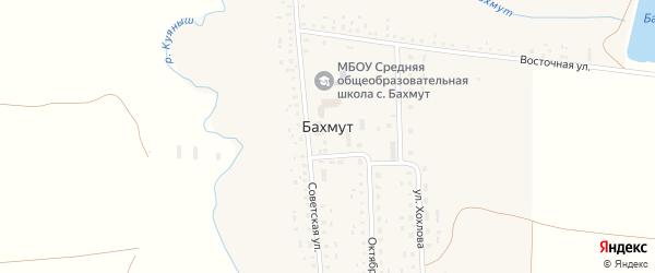 Советский переулок на карте села Бахмута с номерами домов