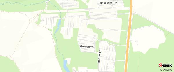 СНТ Ветеран на карте Кармаскалинского района с номерами домов