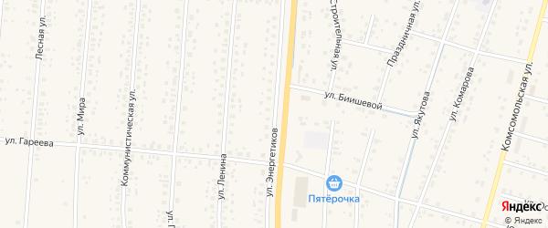 Улица Энергетиков на карте села Старобалтачево с номерами домов