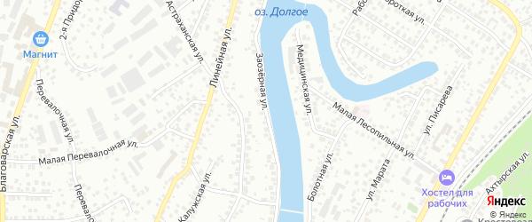 Заозерная улица на карте Уфы с номерами домов