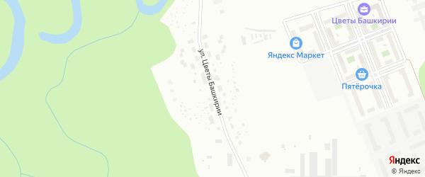 Улица Цветы Башкирии на карте Уфы с номерами домов