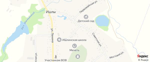 Молодежная улица на карте села Ишлы с номерами домов