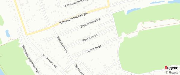 Камская улица на карте Уфы с номерами домов