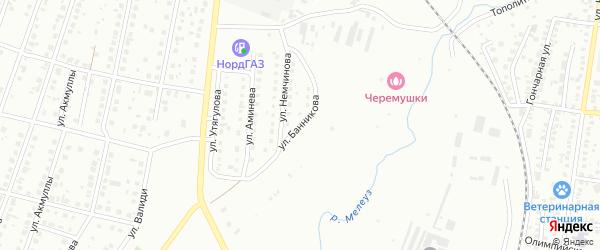Улица Банникова на карте Мелеуза с номерами домов