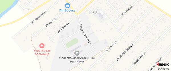 Студенческая улица на карте села Наумовки с номерами домов