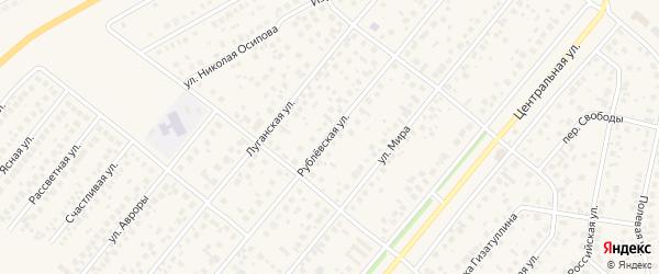 Рублевская улица на карте села Зубово с номерами домов