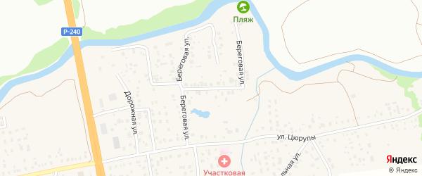Береговая улица на карте села Булгаково с номерами домов