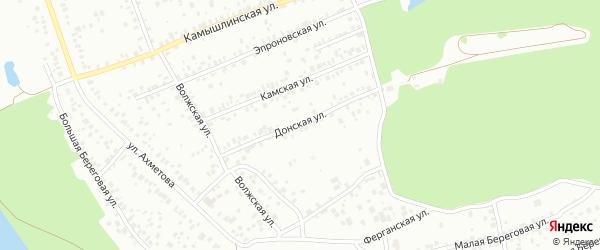 Донская улица на карте Уфы с номерами домов