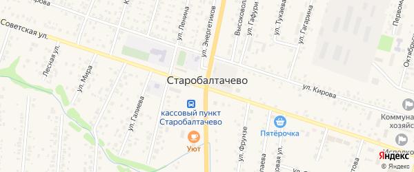 Радужная улица на карте села Старобалтачево с номерами домов