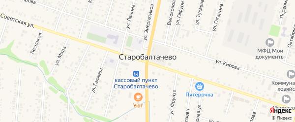 Солнечная улица на карте села Старобалтачево с номерами домов