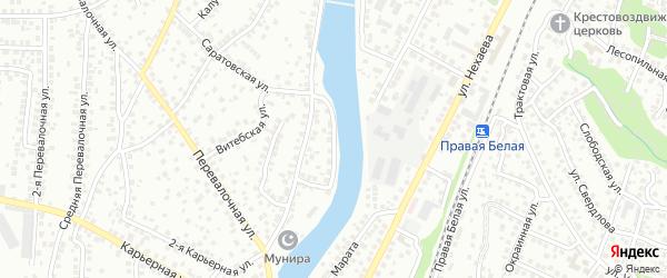 Морозовская улица на карте Уфы с номерами домов