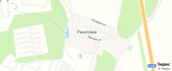 Полевая улица на карте деревни Ракитовки с номерами домов