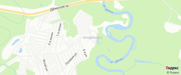 Карта поселка Демское лесн-во города Уфы в Башкортостане с улицами и номерами домов