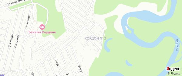 Улица Кордон 3 на карте поселка Демское лесн-во с номерами домов