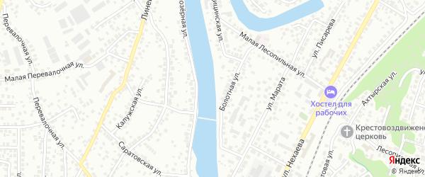 Улица Полуостров Озеро Долгое на карте Уфы с номерами домов