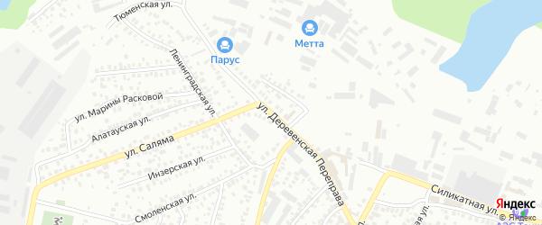Улица Деревенская переправа на карте Уфы с номерами домов