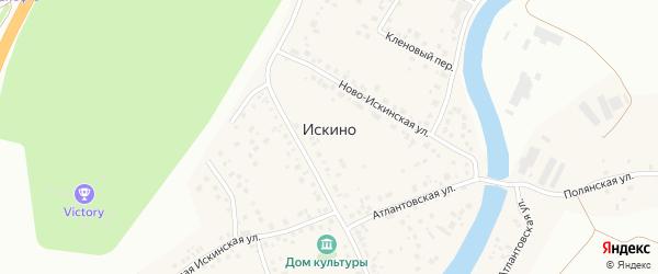 Кленовый переулок на карте деревни Искино с номерами домов