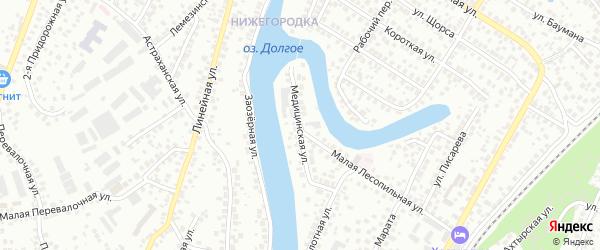 Медицинская улица на карте Уфы с номерами домов