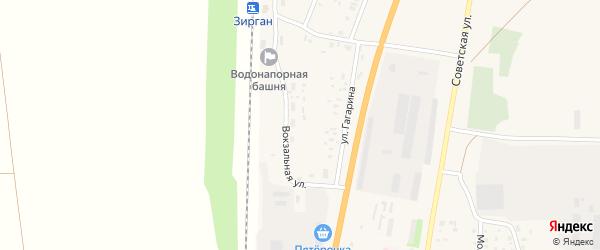 Улица Гагарина на карте села Зиргана с номерами домов