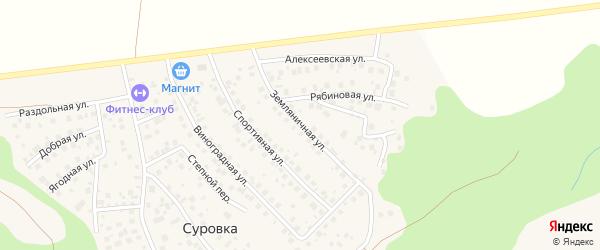 Земляничная улица на карте деревни Суровки с номерами домов