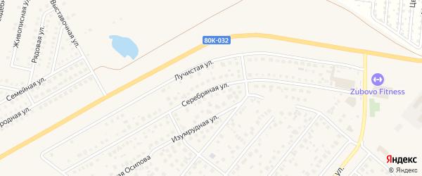 Серебряная улица на карте села Зубово с номерами домов