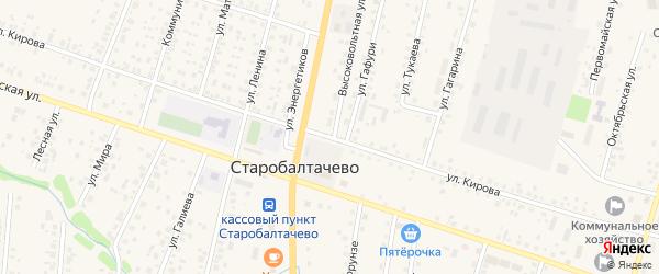 Улица Кирова на карте деревни Староякшеево с номерами домов