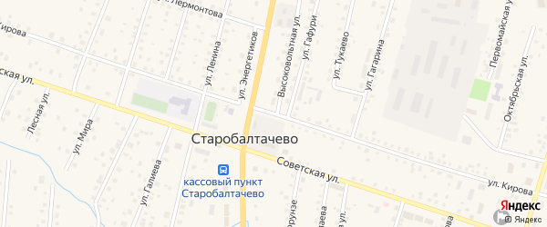 Улица Кирова на карте села Старобалтачево с номерами домов