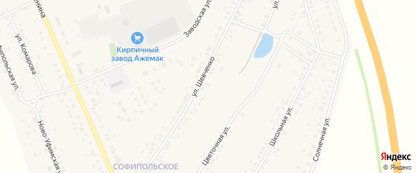 Улица Шевченко на карте села Толбазы с номерами домов