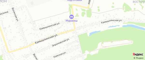Камышлинская улица на карте Уфы с номерами домов