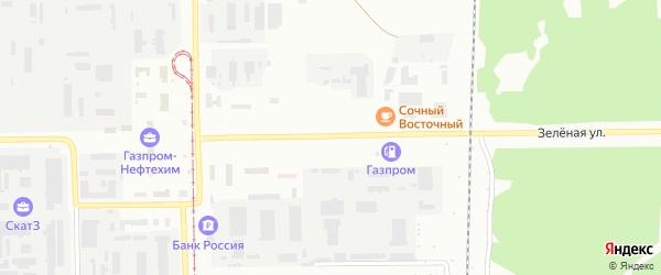 Зеленая улица на карте Салавата с номерами домов