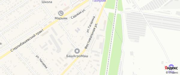 Фестивальная улица на карте села Загородного с номерами домов