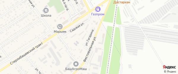 Улица Гагарина на карте села Загородного с номерами домов