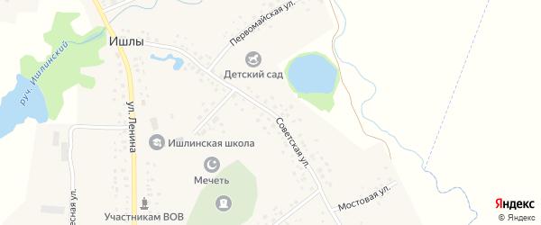 Советская улица на карте села Ишлы с номерами домов
