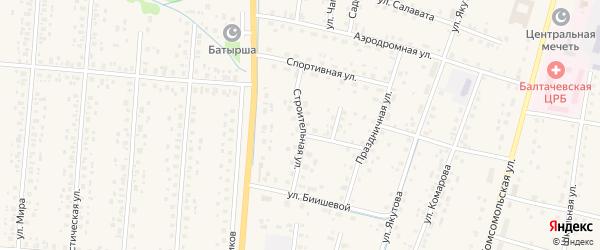 Строительная улица на карте села Старобалтачево с номерами домов