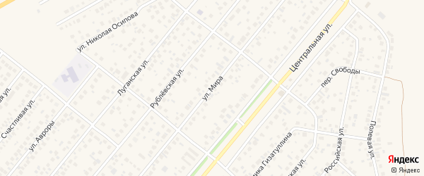 Улица Мира на карте села Зубово с номерами домов