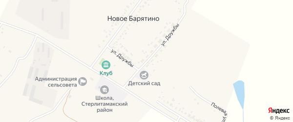 Улица Дружбы на карте села Новое Барятино с номерами домов