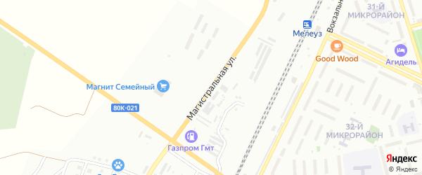 Магистральная улица на карте Мелеуза с номерами домов