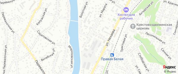 Улица Марата на карте Уфы с номерами домов