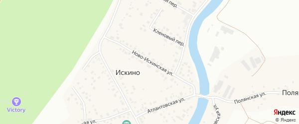 Ново-Искинская улица на карте деревни Искино с номерами домов