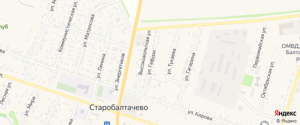Улица М.Гафури на карте села Старобалтачево с номерами домов