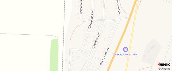 Солнечная улица на карте села Зиргана с номерами домов