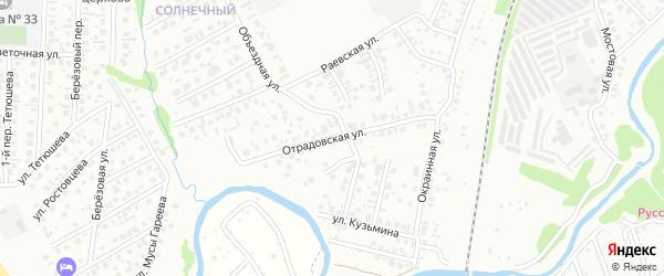 Отрадовская улица на карте Стерлитамака с номерами домов