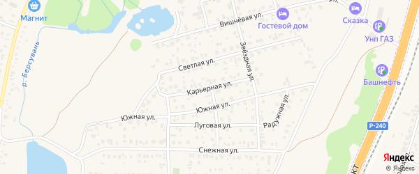 Карьерная улица на карте села Чесноковки с номерами домов